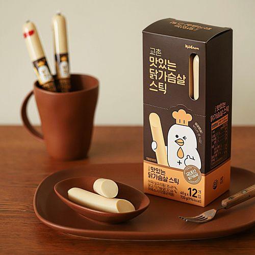 [교촌] 맛있는 닭가슴살 스틱 12개입 (60g/EA)
